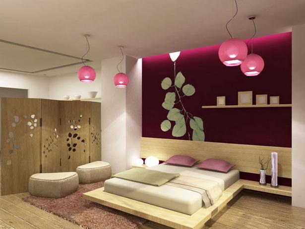 Asiatisches schlafzimmer