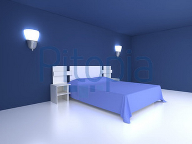 blaues schlafzimmer. Black Bedroom Furniture Sets. Home Design Ideas