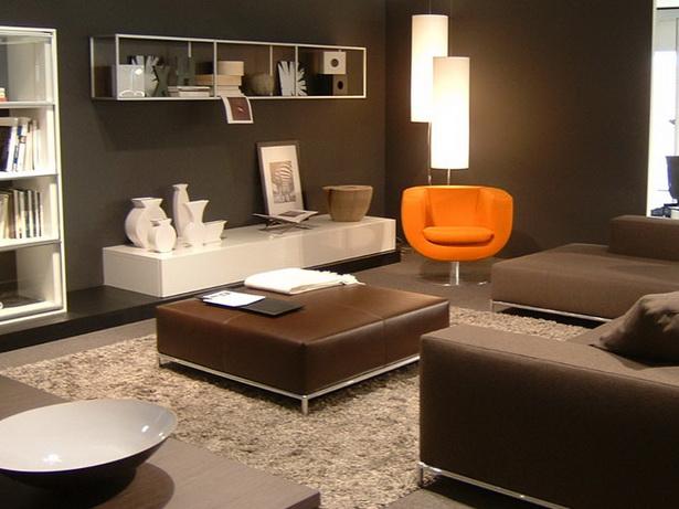 Dekoideen wohnzimmer braun inspiration for Wohnzimmer deko braun