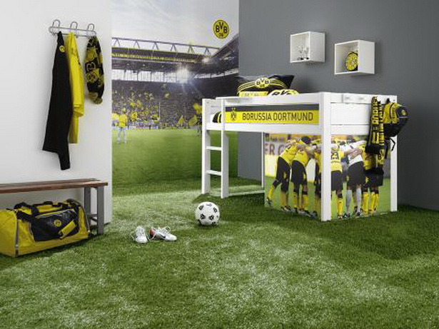 fussball kinderzimmer. Black Bedroom Furniture Sets. Home Design Ideas