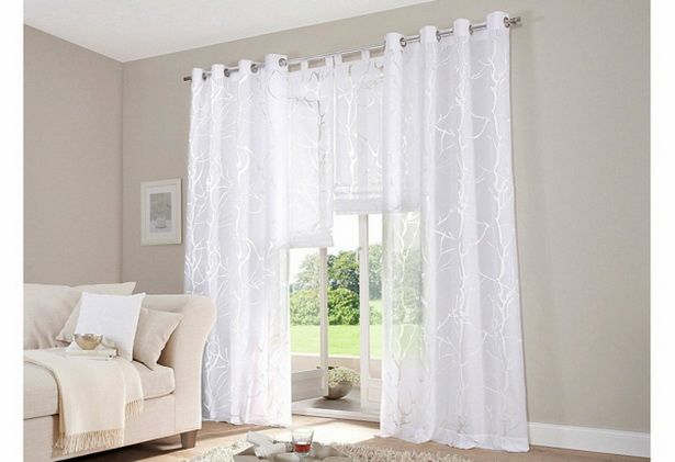 gardinen wei wohnzimmer