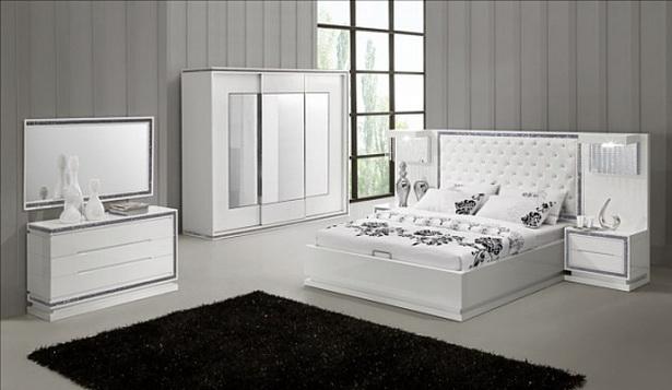 Hochglanz schlafzimmer