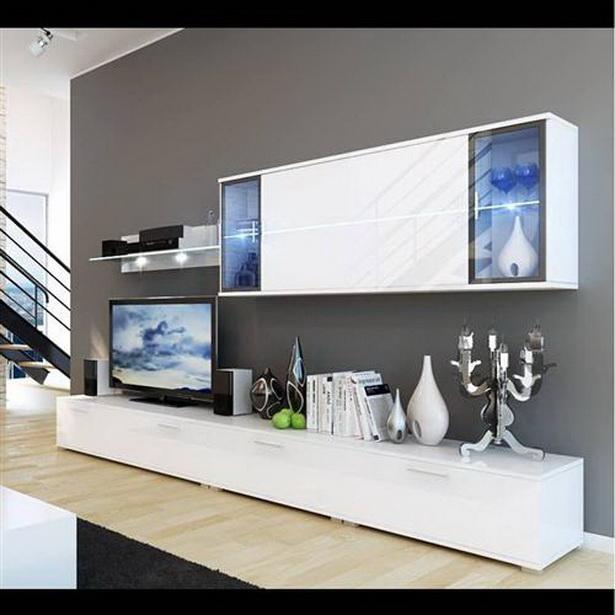 Hochglanz wohnzimmer for Fernsehwand modern