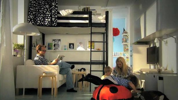 ideen f r kleine wohnungen. Black Bedroom Furniture Sets. Home Design Ideas