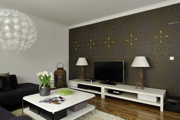 ideen tapeten wohnzimmer. Black Bedroom Furniture Sets. Home Design Ideas