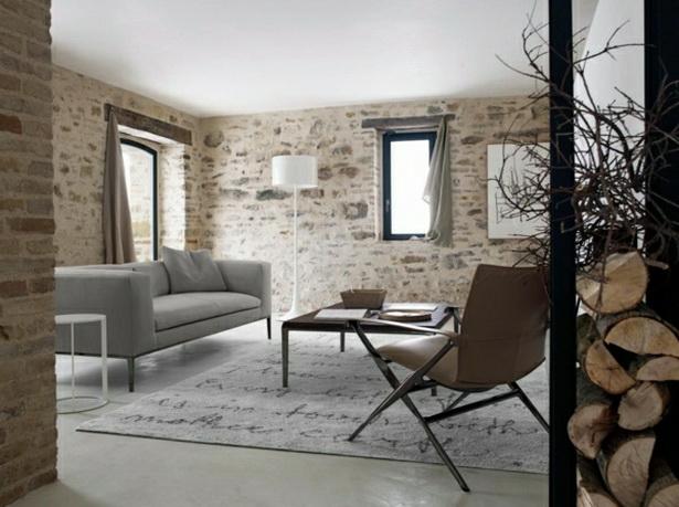 ideen wohnzimmergestaltung rustikale einrichtung ideen fr ein - Inneneinrichtung Ideen Wohnzimmer