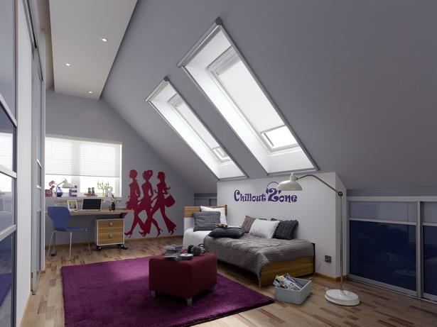 Jugendzimmer Dachschräge