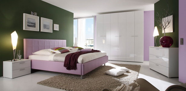 Jugendzimmer weiß lila