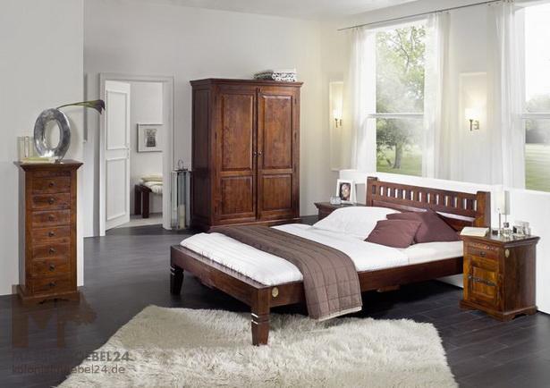 Kolonialstil schlafzimmer for Bett kolonialstil