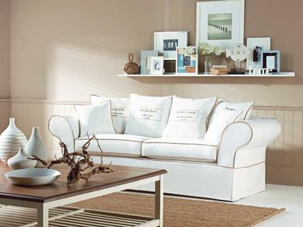 tapeten landhausstil wohnzimmer dekoration und interior