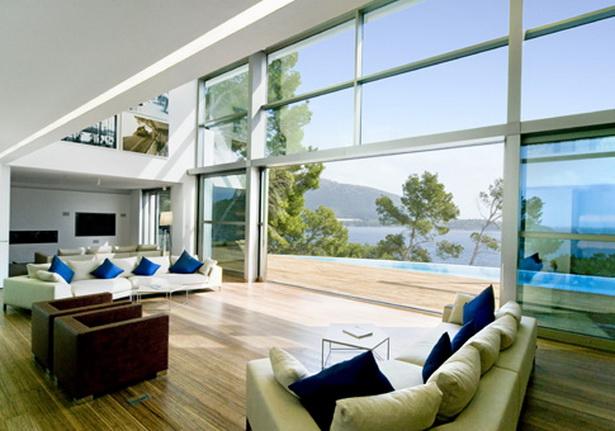 Luxus wohnzimmer modern mit kamin carprola for - Luxus wohnzimmer modern ...
