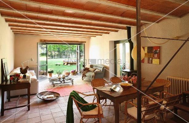 mediterranes wohnzimmer. Black Bedroom Furniture Sets. Home Design Ideas