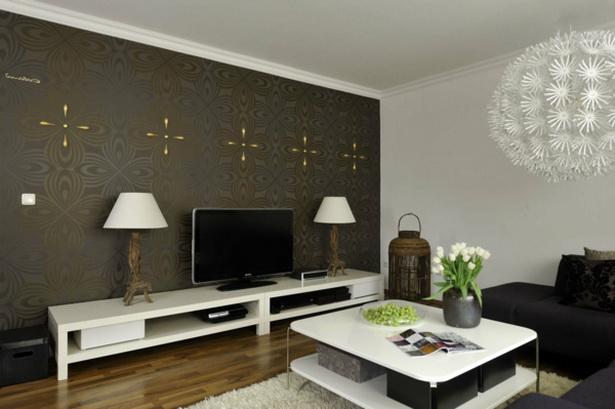 moderne tapeten f r wohnzimmer. Black Bedroom Furniture Sets. Home Design Ideas