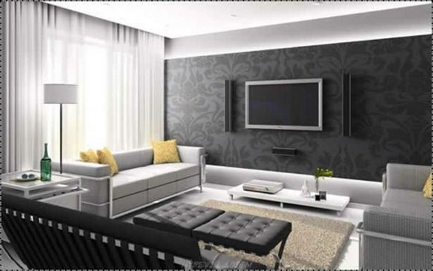 moderne tapeten wohnzimmer. Black Bedroom Furniture Sets. Home Design Ideas