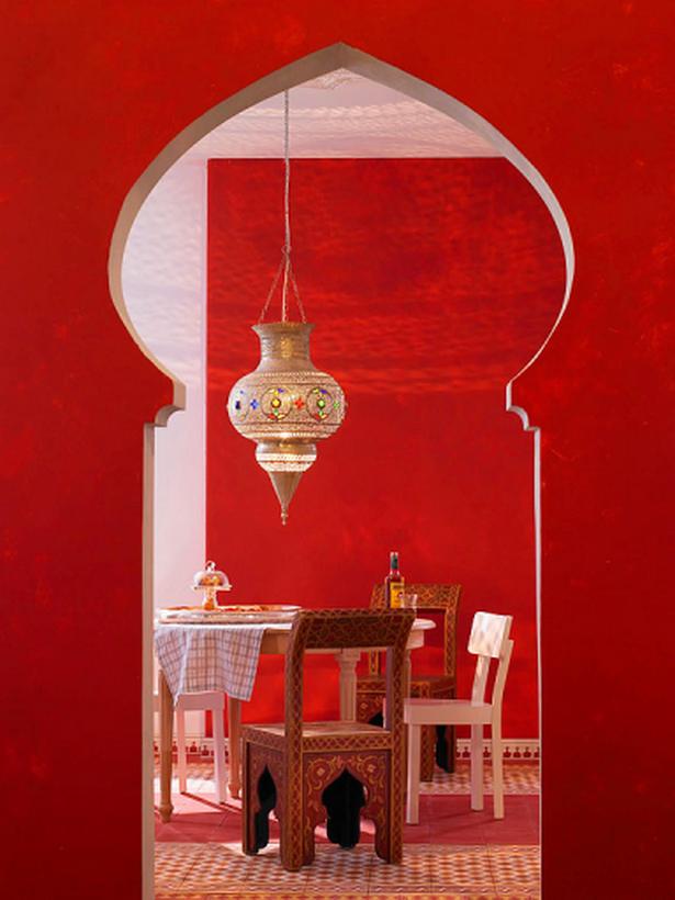 Bemalte Stühle orientalische einrichtungsideen
