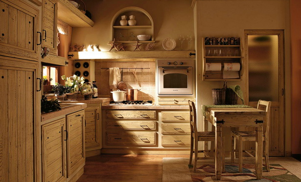 rustikale k chen. Black Bedroom Furniture Sets. Home Design Ideas