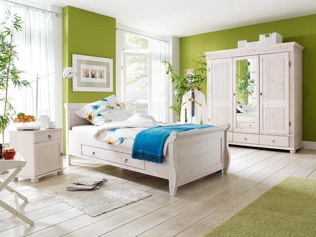 Schlafzimmer landhausstil weiß