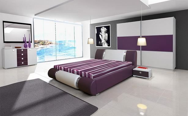 schlafzimmer lila wei. Black Bedroom Furniture Sets. Home Design Ideas