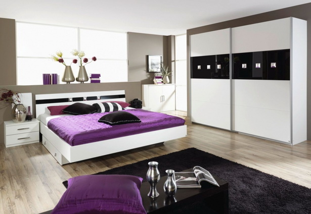 schlafzimmer schwarz weiss. Black Bedroom Furniture Sets. Home Design Ideas