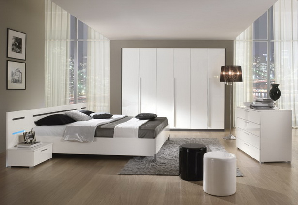 schlafzimmer wei hochglanz. Black Bedroom Furniture Sets. Home Design Ideas