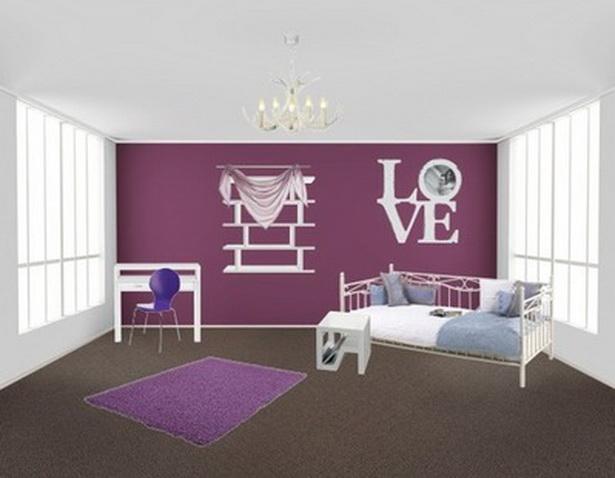 schlafzimmer wei223 lila