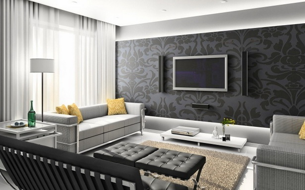 Tapete ideen wohnzimmer