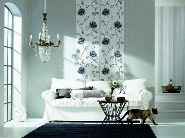 wohnzimmer tapeten ideen modern. Black Bedroom Furniture Sets. Home Design Ideas