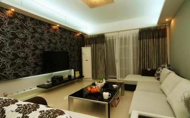 tapeten im wohnzimmer. Black Bedroom Furniture Sets. Home Design Ideas