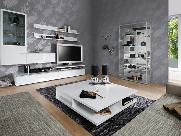 tapeten modern wohnzimmer. Black Bedroom Furniture Sets. Home Design Ideas