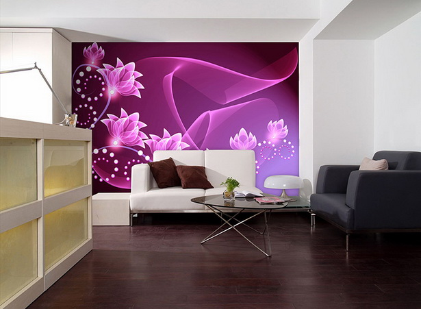 tapetengestaltung f r wohnzimmer. Black Bedroom Furniture Sets. Home Design Ideas