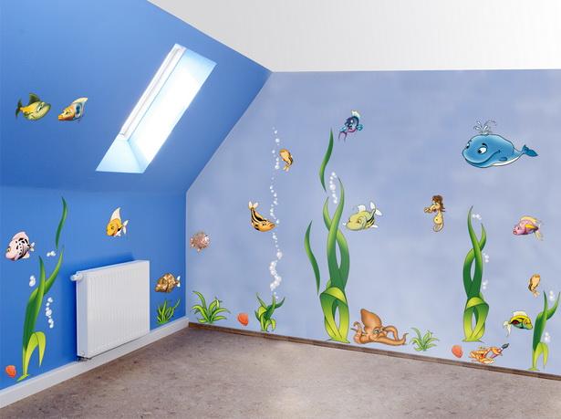 Wandgestaltung kinderzimmer junge
