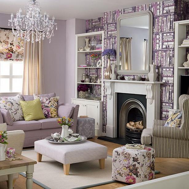 Wohnideen wohnzimmer lila farbe