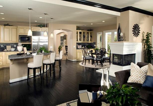 wohnzimmer küche trennen:wohräume anordnung wohnzimmer essbereich küche