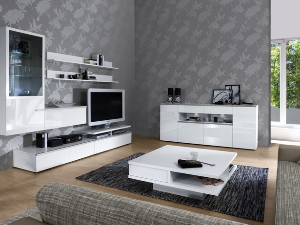wohnideen wohnzimmer tapeten. Black Bedroom Furniture Sets. Home Design Ideas