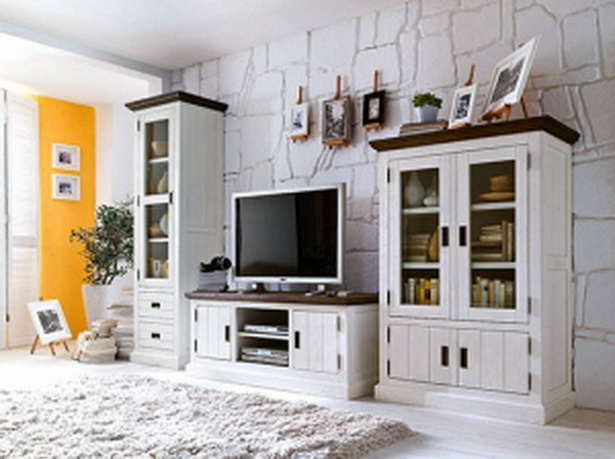 wohnwand landhausstil. Black Bedroom Furniture Sets. Home Design Ideas