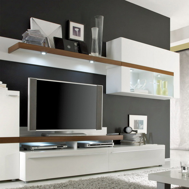wohnwand modern. Black Bedroom Furniture Sets. Home Design Ideas