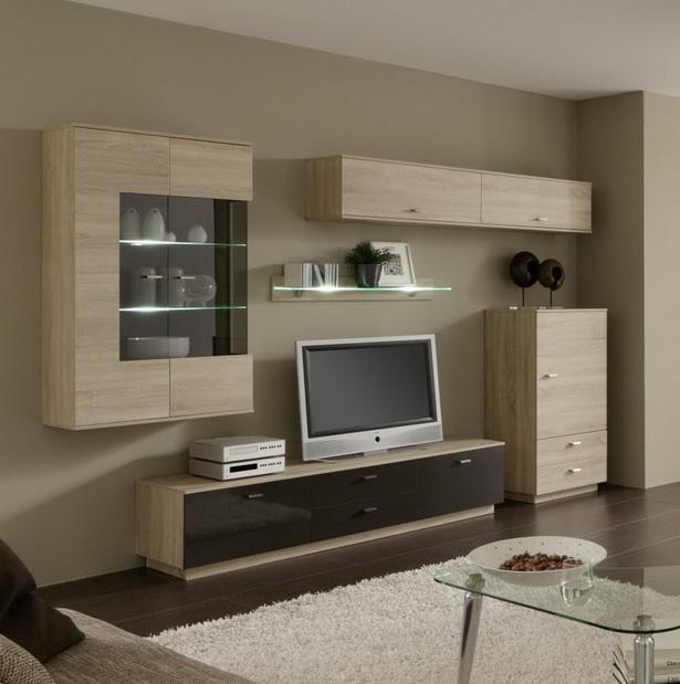 wohnwand modern. Black Bedroom Furniture Sets. Home Design Ideas