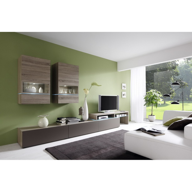 wohnwand modern gestalten interessante. Black Bedroom Furniture Sets. Home Design Ideas