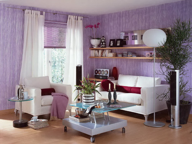 Wohnzimmer ideen lila home design interieur m bel ideen for Lila home designs