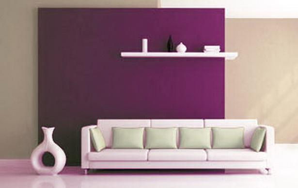 wohnzimmer ideen lila