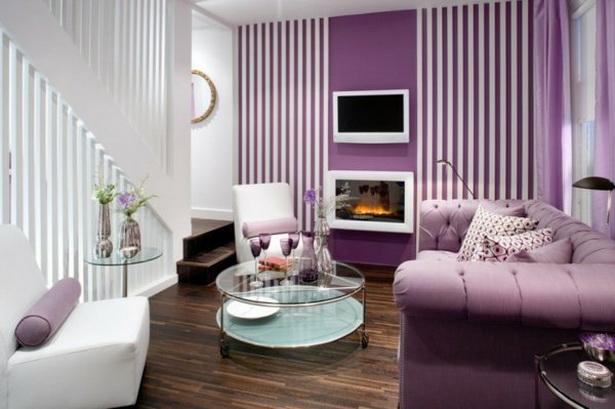 Wohnzimmer Design Lila ~ Kreative Bilder Für Zu Hause Design
