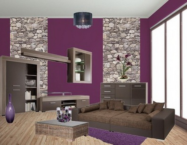 wohnzimmer in lila. Black Bedroom Furniture Sets. Home Design Ideas