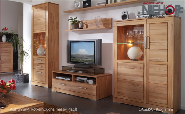 wohnzimmer kernbuche massiv. Black Bedroom Furniture Sets. Home Design Ideas