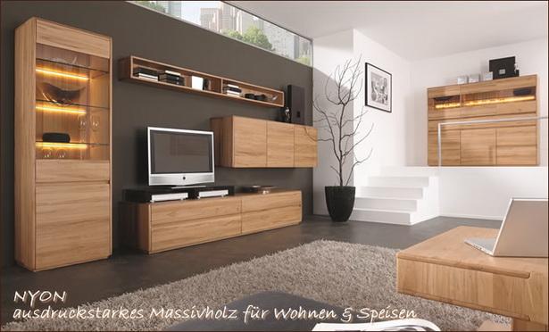 Wohnzimmer kernbuche massiv for Moderne wohnzimmerwand