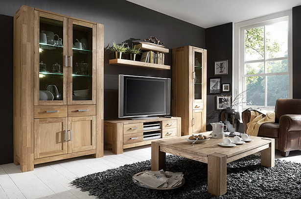 wohnzimmer massiv. Black Bedroom Furniture Sets. Home Design Ideas