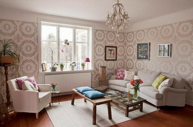 wohnzimmer gestalten mit farbe:Wohnzimmer Gestalten Mit Tapeten-Die ...