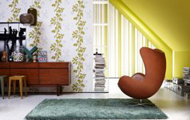 Wohnzimmer Tapeten Gestaltung : Wohnzimmer mit tapeten gestalten