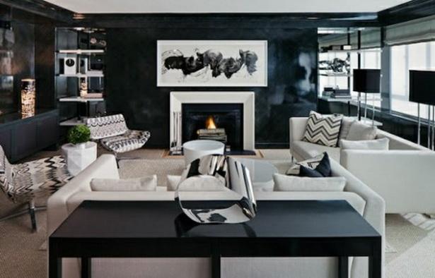 46. Kleine Räume Einrichten Weißes Sofa Im Schicken Wohnzimmer. Wohnzimmer  Farben Rechteckiger Esstisch