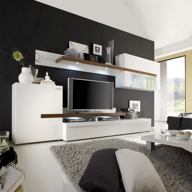 wohnzimmer wei braun. Black Bedroom Furniture Sets. Home Design Ideas