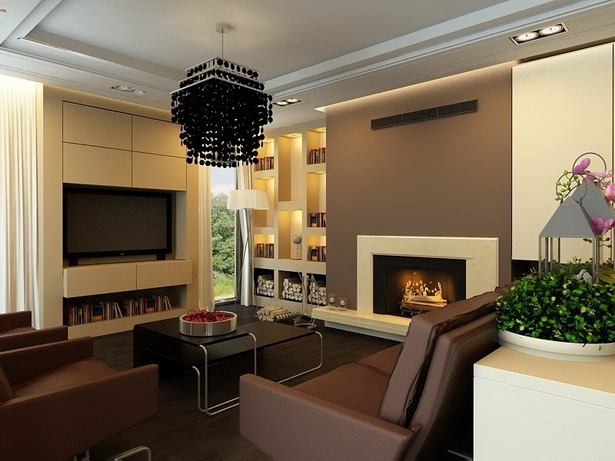 Wohnzimmergestaltung braun for Moderne farben wohnzimmer